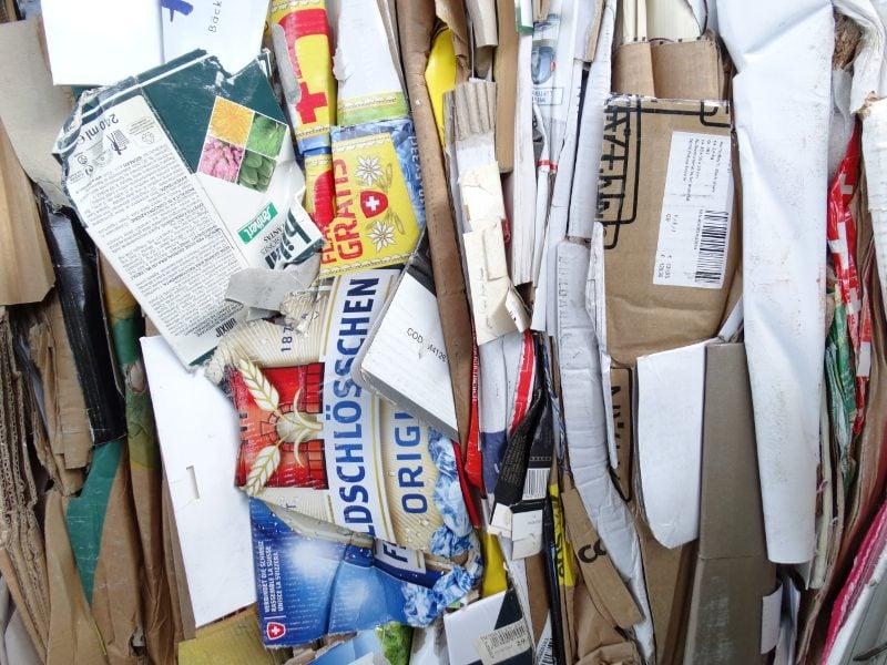 Pile of cardboard.