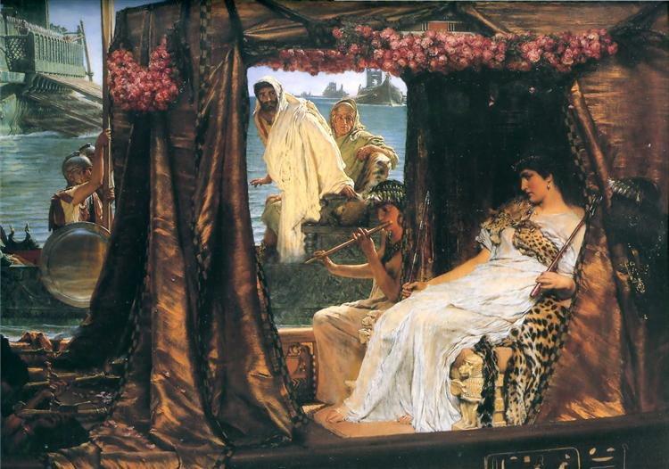 Cleopatra, from the painting Antony and Cleopatra by Sir Lawrence Alma-Tadema.